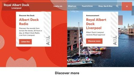 image of the Albert Dock website