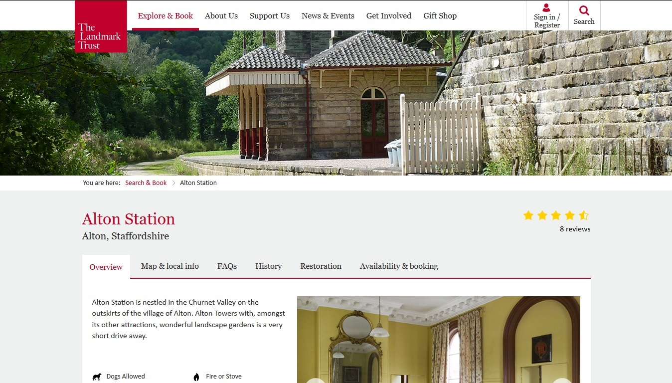 image of the Alton Station website
