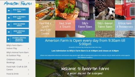 image of the Amerton Farm website