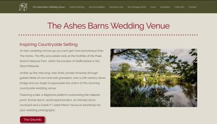 image of the Ashes Barns website