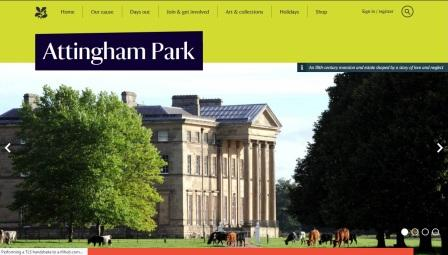 image of the Attingham Park website