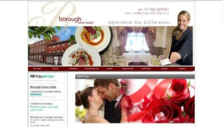 image of the Borough Arms Hotel website