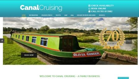 image of the Canal Cruising website
