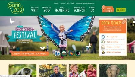 image of the Chester Zoo website