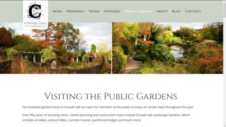 image of the Consall Hall Gardens website