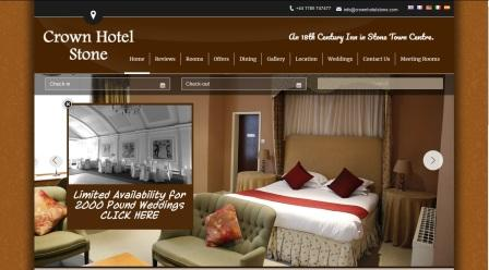 image of the Crown Hotel website
