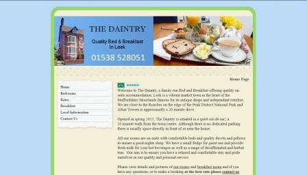 image of the Daintry website