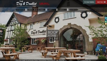image of the Dog and Doublet website