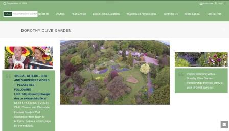 image of the Dorathy Clive Garden website