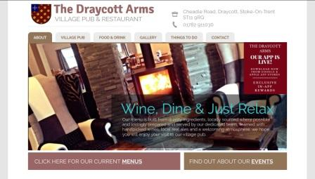 image of The Draycott Arms website