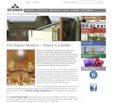 image of the dudson website