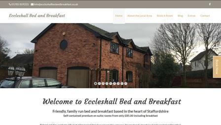 image of the Eccleshall B and B website
