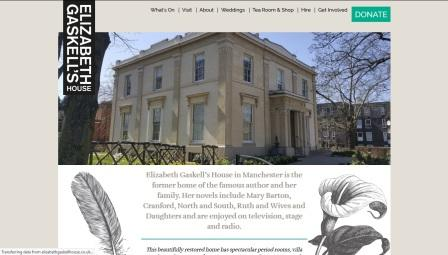 image of the Elizabeth Gaskell website