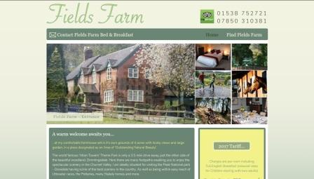 image of the Fields Farm website