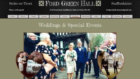 image of the Ford Green Hall website