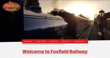 image of the Foxfield Railway website