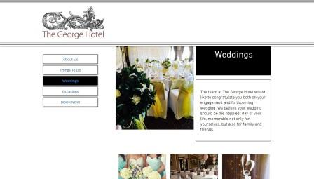 image of the George Hotel website