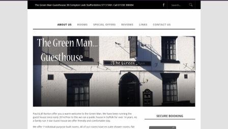 image of the Green Man website