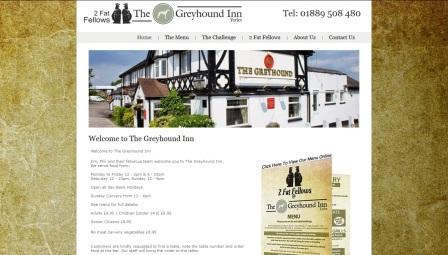 image of the Greyhound Inn website