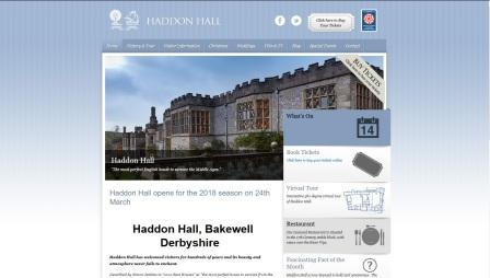 image of the Haddon Hall website