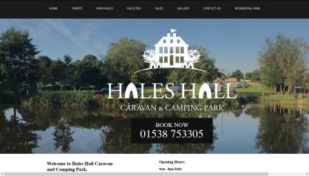 image of the Hales Hall website