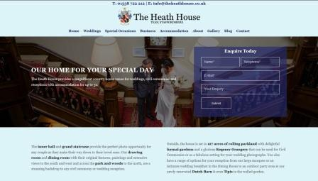 image of the Heath House website