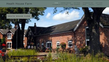 image of the Heath House Farm website