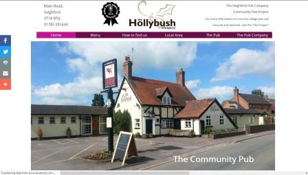 image of the Hollybush website