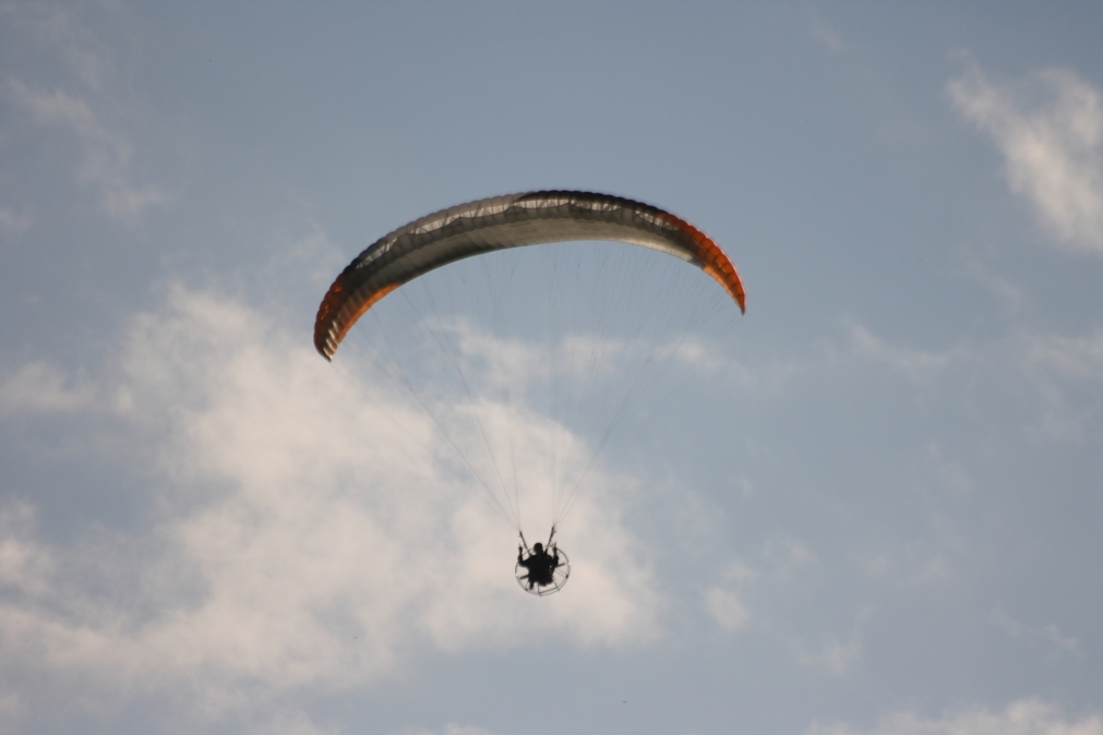 image of a powered parachute