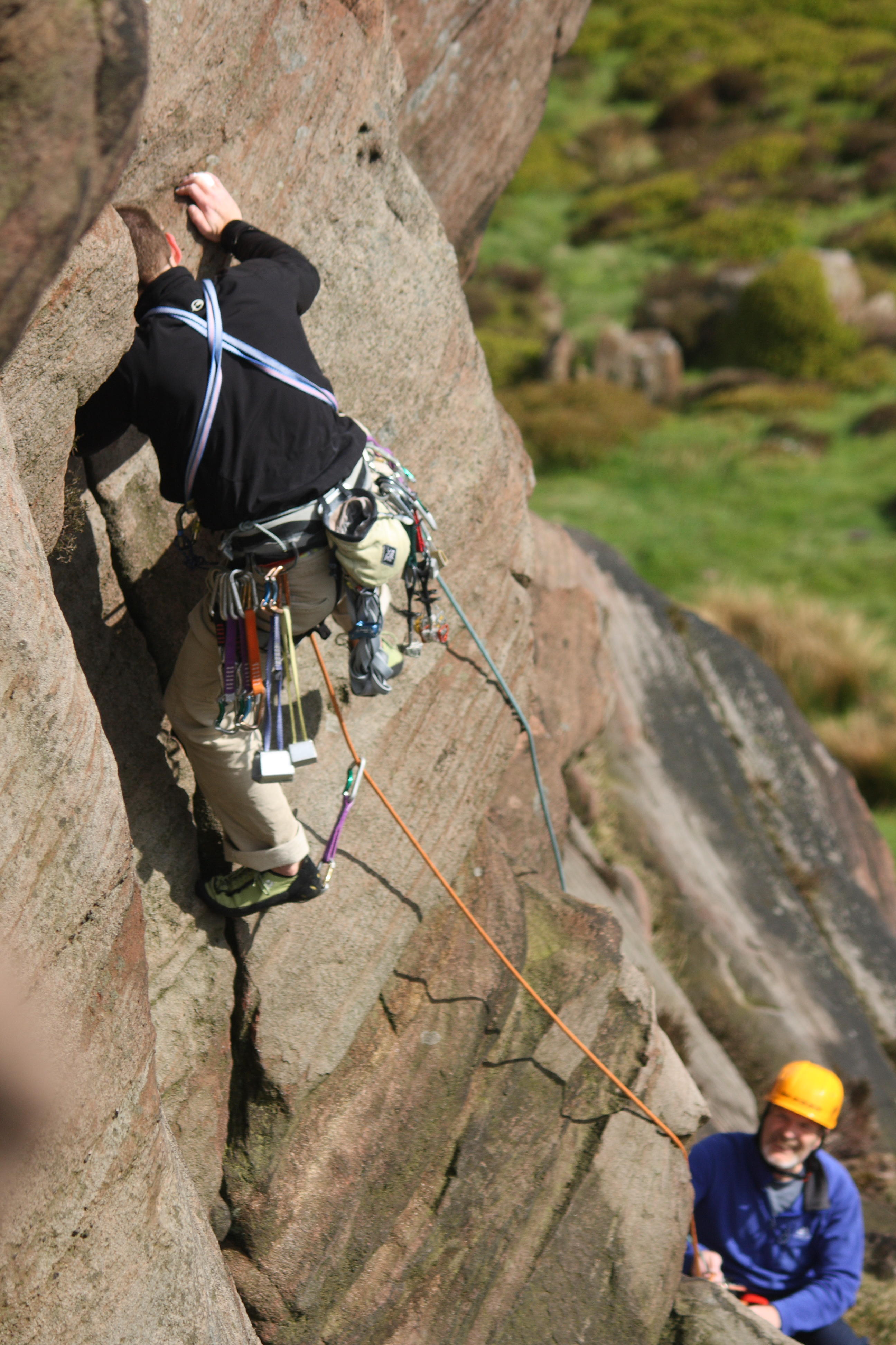 image of climbers on the roaches