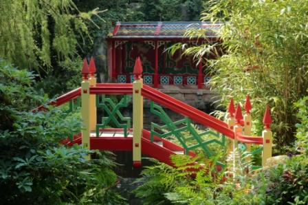 image of the China garden  at Biddulph Grange