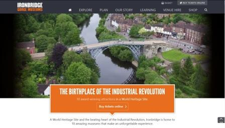 image of the Ironbridge Gorge Museums website