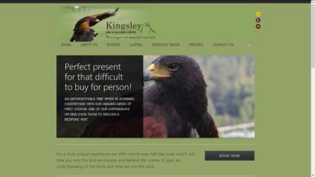 image of the Kingsley Falconry Centre website