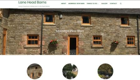 image of the Lane Head Barns website