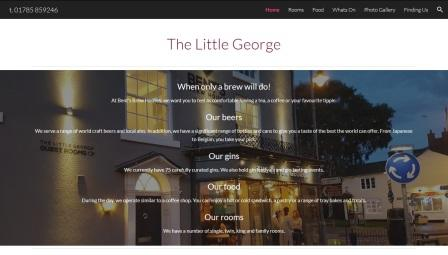 image of the Little George website