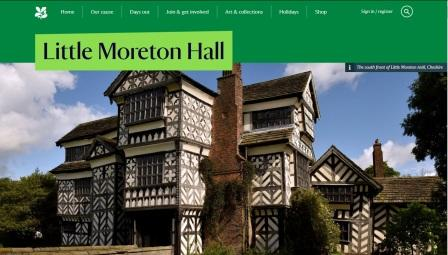 image of the Little Moreton Hall website