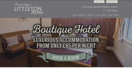 image of the Littleton Arms website