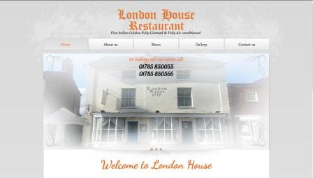 image of the London House website