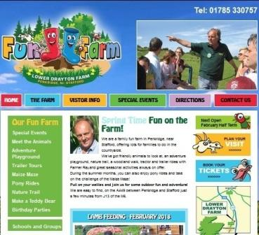 image of the lower drayton farm website