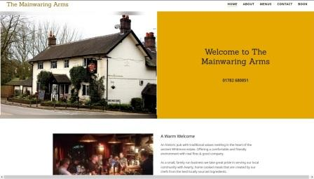 image of the Mainwaring Arms website