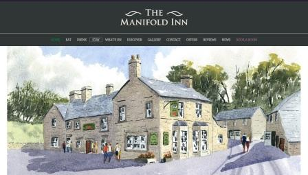 image of the Manifold Inn website