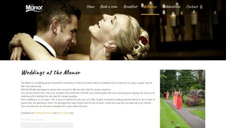 image of the Manor Guest House website