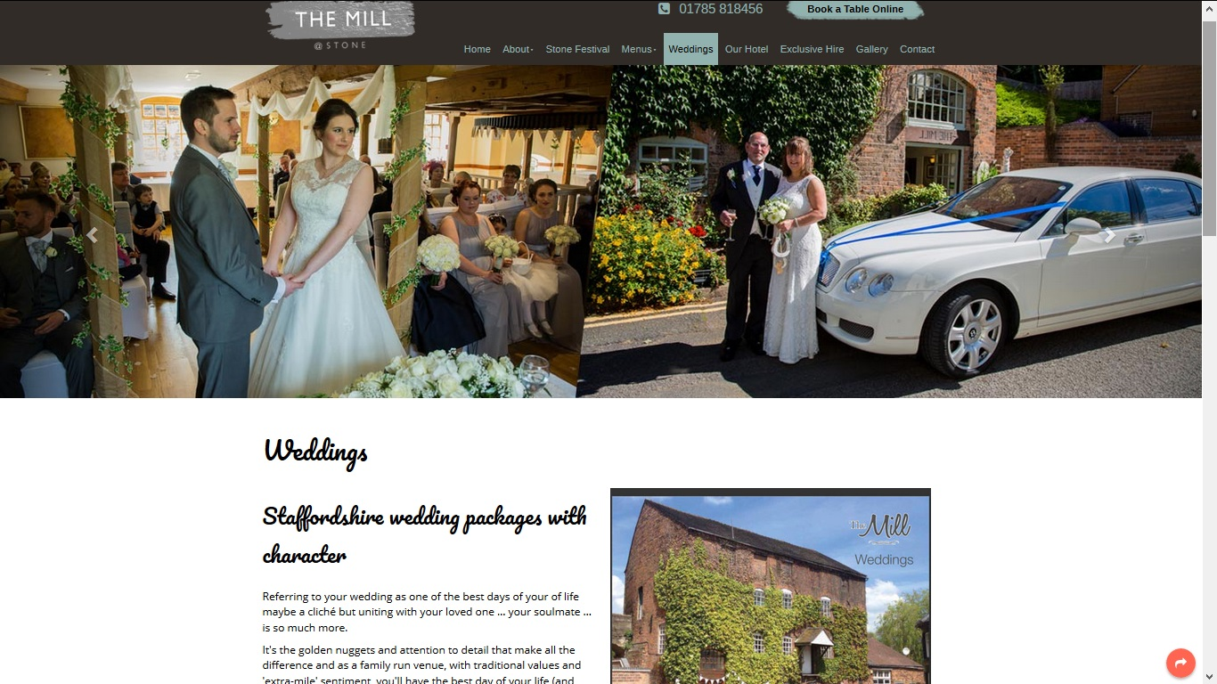 image of the Mill Hotel website