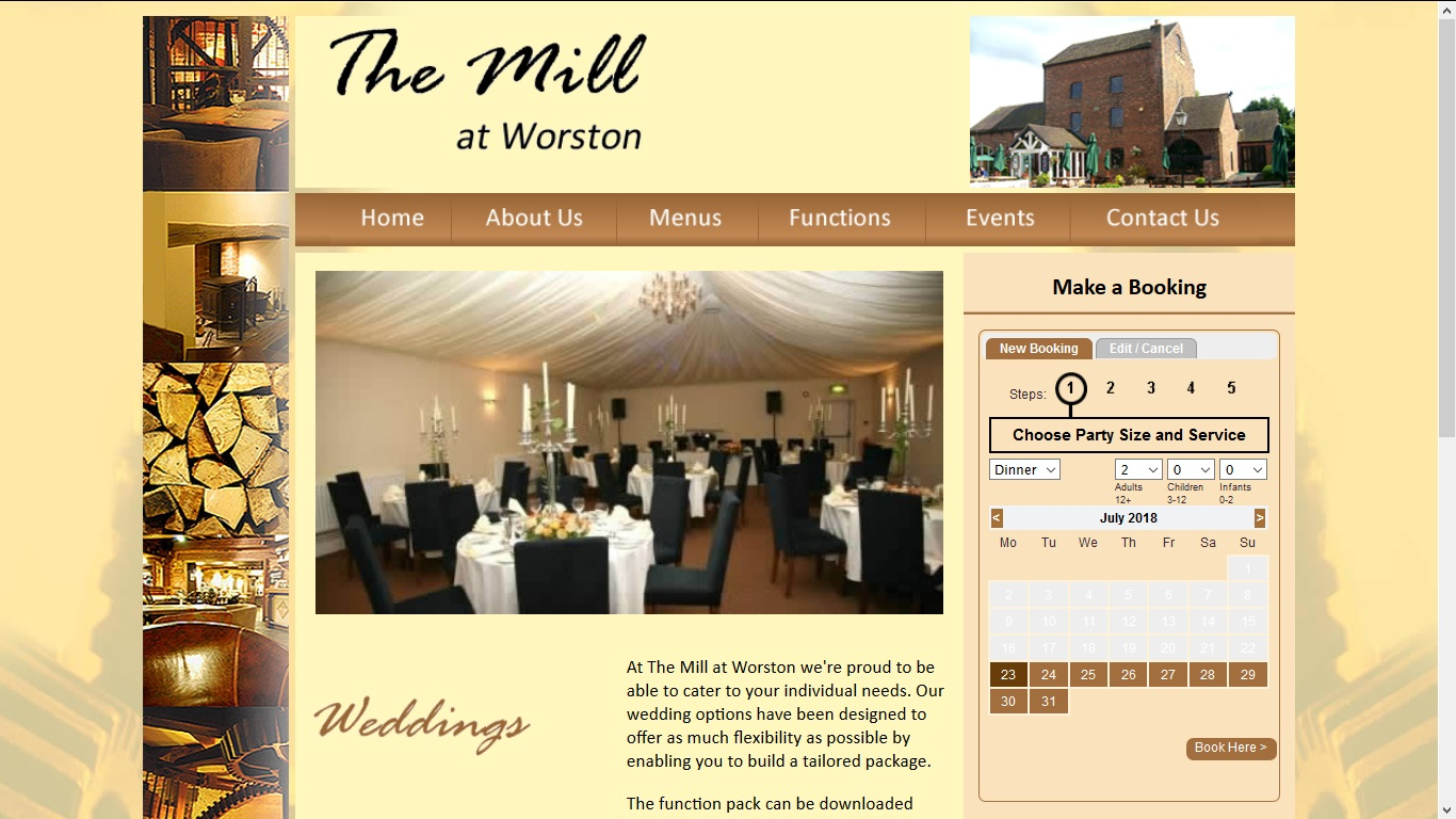 image of the Mill website