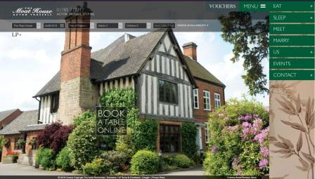 image of the Moat House website
