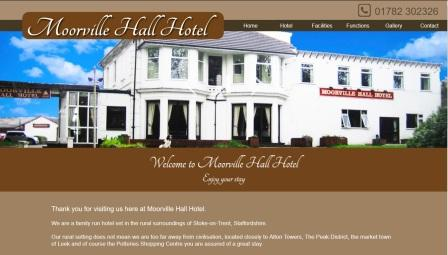 image of the Moorville Hall website