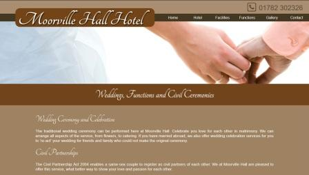 image of the Moorville Hall Hotel website