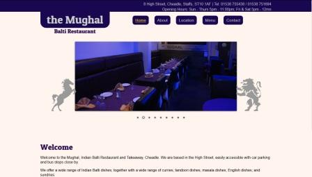 image of the Mughal website