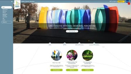 image of the National Memorial Arboretum website