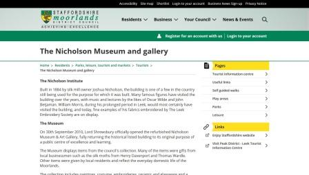 image of the Nicholson Museum website